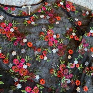 UO Sheer Embroidered Top